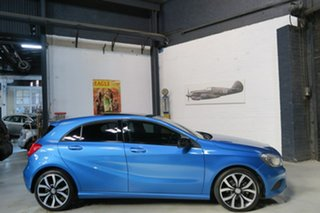 2014 Mercedes-Benz A-Class W176 805+055MY Blue 7 Speed Sports Automatic Dual Clutch Hatchback