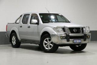 2012 Nissan Navara D40 ST (4x4) Silver 6 Speed Manual Dual Cab Pick-up.