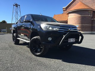 2015 Toyota Hilux GUN126R SR5 (4x4) Eclipse Black 6 Speed Automatic Dual Cab Utility.