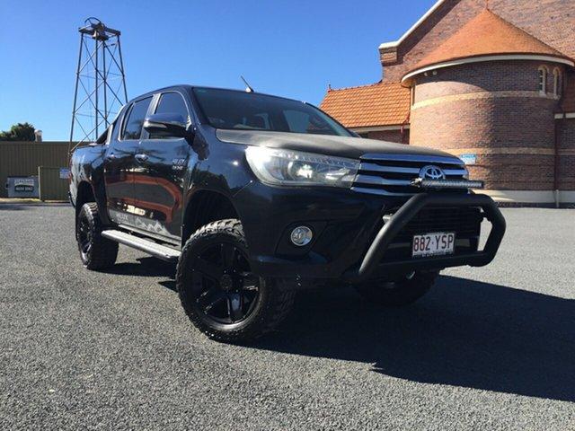 Used Toyota Hilux GUN126R SR5 (4x4), 2015 Toyota Hilux GUN126R SR5 (4x4) Eclipse Black 6 Speed Automatic Dual Cab Utility