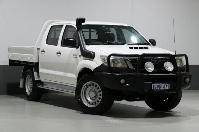 Used Toyota Hilux KUN26R MY12 SR (4x4), 2012 Toyota Hilux KUN26R MY12 SR (4x4) White 4 Speed Automatic Dual Cab Pick-up