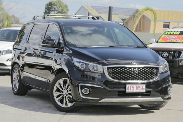 Used Kia Carnival YP MY16 Platinum, 2015 Kia Carnival YP MY16 Platinum Black 6 Speed Sports Automatic Wagon
