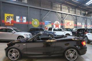 2011 BMW 1 Series E88 LCI MY0911 120i Steptronic Black 6 Speed Sports Automatic Convertible.