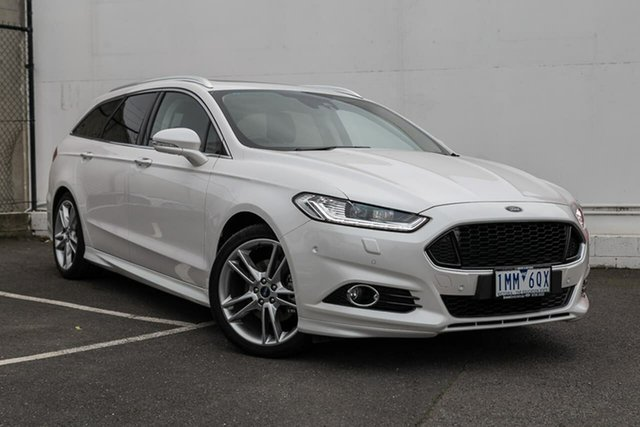 Used Ford Mondeo MD 2018.25MY Titanium PwrShift, 2018 Ford Mondeo MD 2018.25MY Titanium PwrShift White 6 Speed Sports Automatic Dual Clutch Wagon