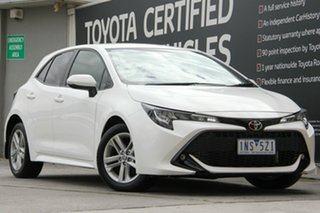 2018 Toyota Corolla Mzea12R SX Glacier White 10 Speed Constant Variable Hatchback.