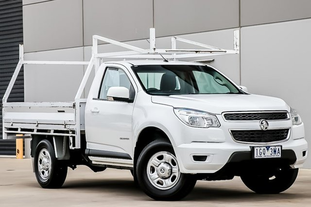 Used Holden Colorado RG MY15 LS 4x2, 2015 Holden Colorado RG MY15 LS 4x2 Summit White 6 Speed Manual Cab Chassis