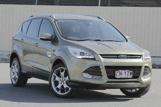 Used Ford Kuga TF MY15 Titanium AWD, 2015 Ford Kuga TF MY15 Titanium AWD Green 6 Speed Sports Automatic Wagon