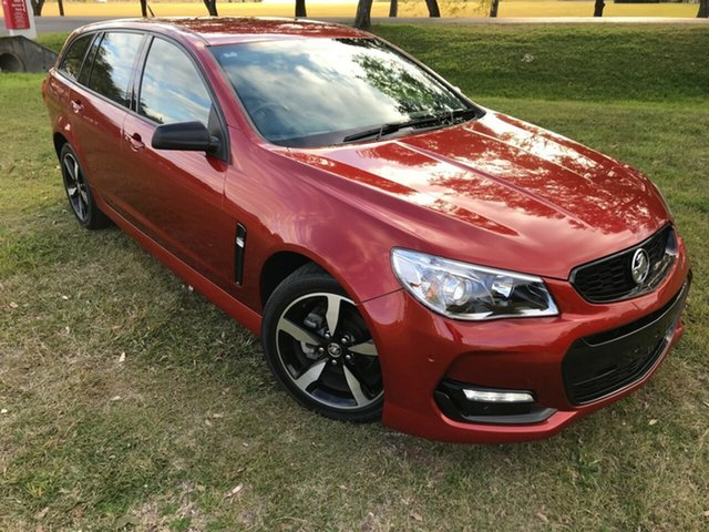 Used Holden Commodore VF II MY16 SV6 Sportwagon Black, 2016 Holden Commodore VF II MY16 SV6 Sportwagon Black Red 6 Speed Sports Automatic Wagon