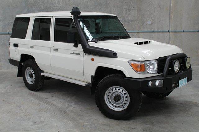 Used Toyota Landcruiser VDJ76R Workmate, 2018 Toyota Landcruiser VDJ76R Workmate White 5 Speed Manual Wagon