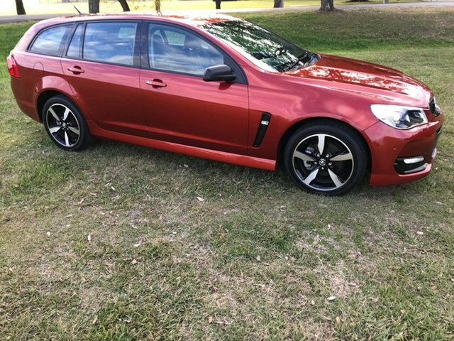 Used Holden Commodore Vfii MY16 SV6 Black Edition, 2016 Holden Commodore Vfii MY16 SV6 Black Edition Red 6 Speed Automatic Sportswagon