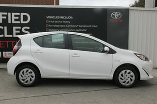 2018 Toyota Prius c NHP10R E-CVT Glacier White 1 Speed Constant Variable Hatchback Hybrid