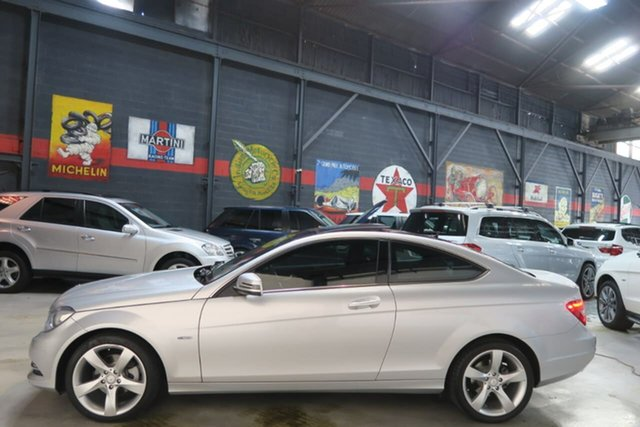 Used Mercedes-Benz C-Class C204 MY13 C180 BlueEFFICIENCY 7G-Tronic +, 2012 Mercedes-Benz C-Class C204 MY13 C180 BlueEFFICIENCY 7G-Tronic + Silver 7 Speed Sports Automatic