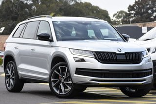 2020 Skoda Kodiaq NS MY20.5 132TSI DSG Sportline Brilliant Silver 7 Speed.
