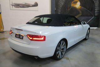 2012 Audi A5 8T MY13 Multitronic White 8 Speed Constant Variable Cabriolet.