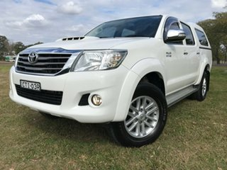 2014 Toyota Hilux KUN26R MY14 SR5 (4x4) Glacier White 5 Speed Automatic Dual Cab Pick-up.