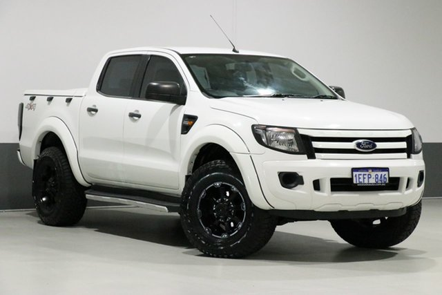 Used Ford Ranger PX XL 2.2 (4x4), 2013 Ford Ranger PX XL 2.2 (4x4) White 6 Speed Automatic Crew Cab Utility