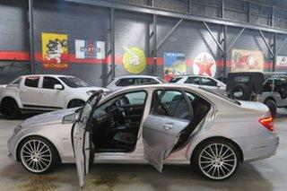 2011 Mercedes-Benz C-Class W204 MY11 Silver 7 Speed Sports Automatic Sedan.