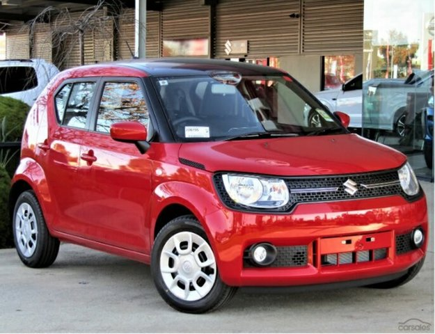 New Suzuki Ignis MF GL, 2019 Suzuki Ignis MF GL Fervent Red & Black Roof 1 Speed Constant Variable Hatchback