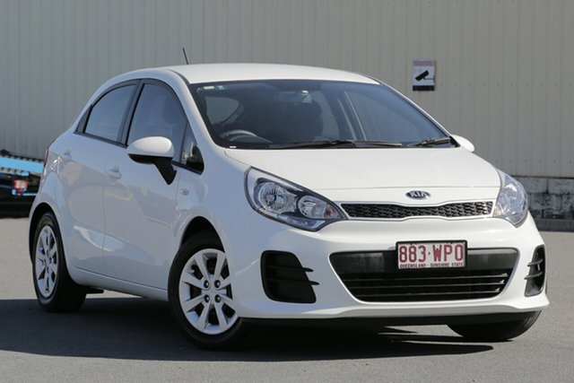 Used Kia Rio UB MY16 S, 2016 Kia Rio UB MY16 S Clear White 4 Speed Sports Automatic Hatchback
