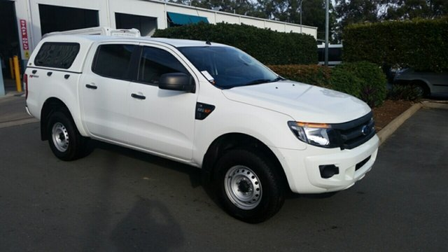 Used Ford Ranger PX XL Double Cab 4x2 Hi-Rider, 2015 Ford Ranger PX XL Double Cab 4x2 Hi-Rider Cool White 6 Speed Sports Automatic Utility