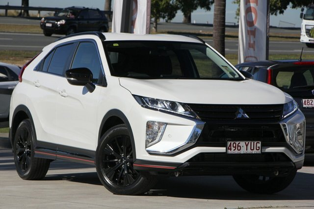 Used Mitsubishi Eclipse Cross YA MY19 Black Edition 2WD, 2018 Mitsubishi Eclipse Cross YA MY19 Black Edition 2WD White 8 Speed Constant Variable Wagon