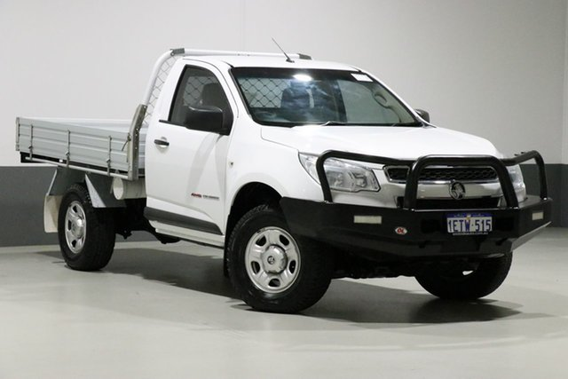 Used Holden Colorado RG MY15 DX (4x4), 2015 Holden Colorado RG MY15 DX (4x4) White 6 Speed Manual Cab Chassis