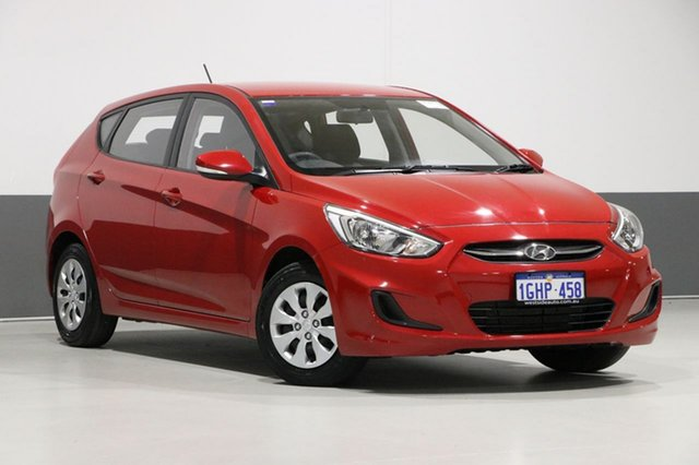 Used Hyundai Accent RB4 MY17 Active, 2017 Hyundai Accent RB4 MY17 Active Red 6 Speed Manual Hatchback