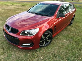 2016 Holden Commodore Vfii MY16 SV6 Black Edition Red 6 Speed Automatic Sportswagon.