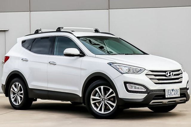 Used Hyundai Santa Fe DM2 MY15 Elite, 2014 Hyundai Santa Fe DM2 MY15 Elite Creamy White 6 Speed Sports Automatic Wagon