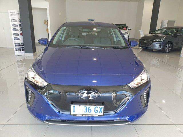Demo Hyundai Ioniq AE.2 MY19 electric Elite, 2019 Hyundai Ioniq AE.2 MY19 electric Elite Intense Blue 1 Speed Reduction Gear Fastback