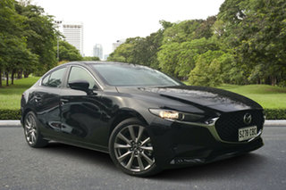 2019 Mazda 3 BP2SLA G25 SKYACTIV-Drive Evolve Jet Black 6 Speed Sports Automatic Sedan.
