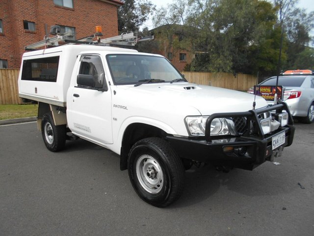 Used Nissan Patrol MY11 Upgrade DX (4x4), 2011 Nissan Patrol MY11 Upgrade DX (4x4) White 5 Speed Manual Leaf Cab Chassis