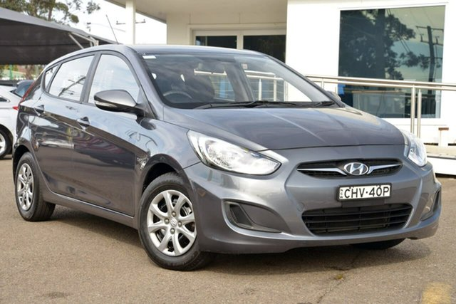 Used Hyundai Accent RB Active, 2012 Hyundai Accent RB Active Grey 5 Speed Manual Hatchback