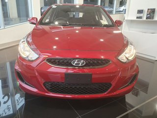 2019 Hyundai Accent RB6 MY18 Sport Pulse Red 6 Speed Sports Automatic Hatchback.