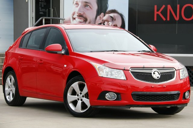 Used Holden Cruze JH MY13 CD Equipe, 2013 Holden Cruze JH MY13 CD Equipe Red 6 Speed Automatic Hatchback