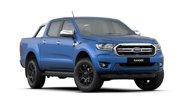 New Ford Ranger  XLT Pick-up Double Cab, 2019 Ford Ranger PX MKIII 2019.7 XLT Pick-up Double Cab Lightning Blue 10 Speed Automatic