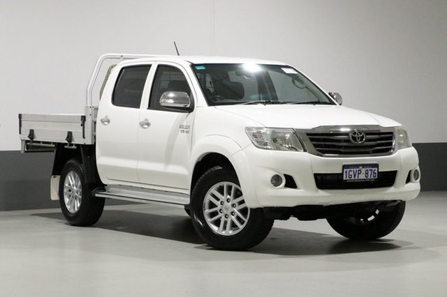 Used Toyota Hilux GGN25R MY12 SR5 (4x4), 2012 Toyota Hilux GGN25R MY12 SR5 (4x4) White 5 Speed Automatic Dual Cab Pick-up