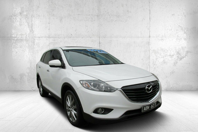Used Mazda CX-9 TB10A5 MY14 Luxury Activematic, 2013 Mazda CX-9 TB10A5 MY14 Luxury Activematic White 6 Speed Sports Automatic Wagon