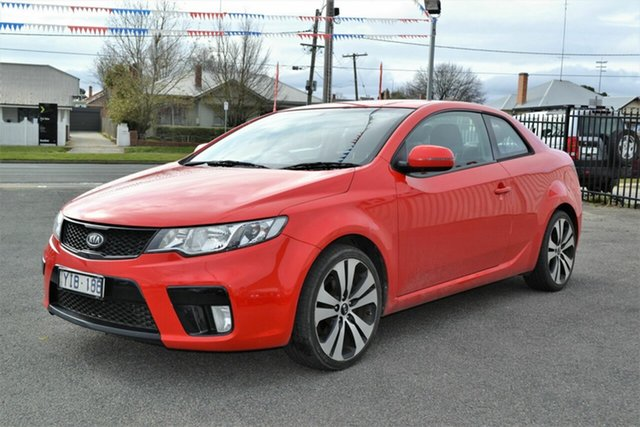 Used Kia Cerato TD MY11 Koup SI, 2011 Kia Cerato TD MY11 Koup SI Red 6 Speed Automatic Coupe