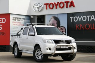 2013 Toyota Hilux GGN25R MY12 SR5 (4x4) White 5 Speed Automatic Dual Cab Pick-up.