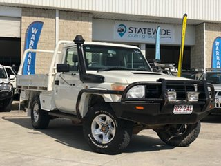 2009 Toyota Landcruiser VDJ79R MY10 GX White 5 Speed Manual Cab Chassis.
