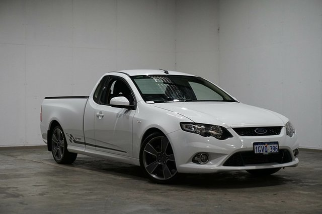 Used Ford Falcon FG XR6 Turbo Ute Super Cab 50th Anniversary, 2010 Ford Falcon FG XR6 Turbo Ute Super Cab 50th Anniversary White 6 Speed Sports Automatic Utility