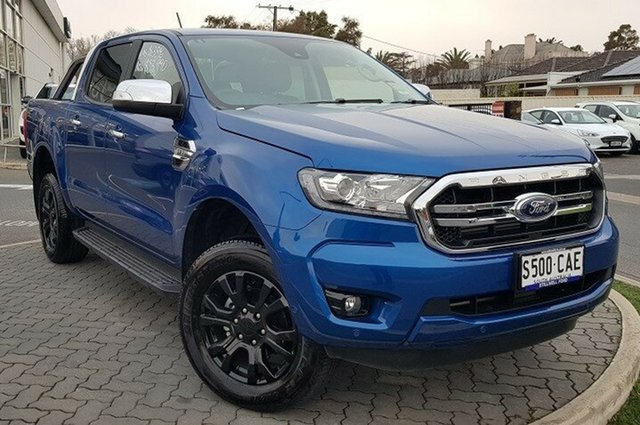 Demo Ford Ranger PX MkIII 2019.00MY XLT Pick-up Double Cab, 2019 Ford Ranger PX MkIII 2019.00MY XLT Pick-up Double Cab Blue Lightning 6 Speed Sports Automatic