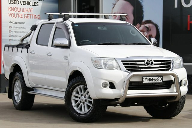 Used Toyota Hilux GGN25R MY12 SR5 (4x4), 2014 Toyota Hilux GGN25R MY12 SR5 (4x4) White 5 Speed Automatic Dual Cab Pick-up