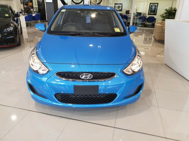 Demo Hyundai Accent RB6 MY18 Sport, 2019 Hyundai Accent RB6 MY18 Sport Blue Lagoon 6 Speed Sports Automatic Hatchback