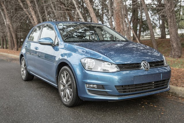 Used Volkswagen Golf VII MY15 103TSI DSG Highline, 2015 Volkswagen Golf VII MY15 103TSI DSG Highline Blue 7 Speed Sports Automatic Dual Clutch