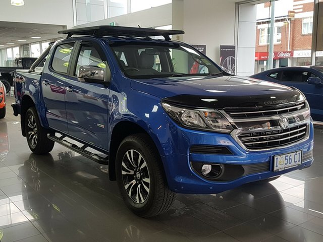 Demo Holden Colorado RG MY19 LTZ Pickup Crew Cab, 2019 Holden Colorado RG MY19 LTZ Pickup Crew Cab Power Blue 6 Speed Sports Automatic Utility