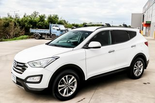 2014 Hyundai Santa Fe DM2 MY15 Elite Creamy White 6 Speed Sports Automatic Wagon.