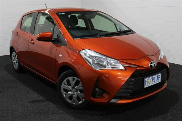 Used Toyota Yaris NCP130R Ascent, 2017 Toyota Yaris NCP130R Ascent Orange 4 Speed Automatic Hatchback