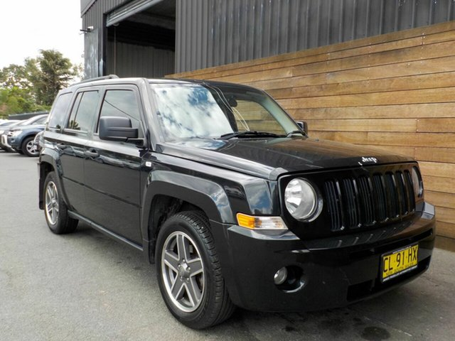 Used Jeep Patriot MK MY2009 Sport CVT Auto Stick, 2009 Jeep Patriot MK MY2009 Sport CVT Auto Stick Black 6 Speed Constant Variable Wagon